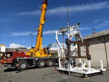 Fabrication, montage et essais en charge d'un outillage de manutention à destination de l'industrie aéronautique.