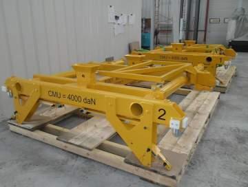 Fabrication et essais en charge d'une série de palonniers spécifiques d'une CMU de 4T.